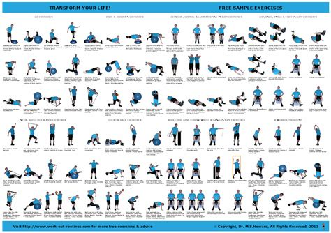 free exercise poster ejercicios workout