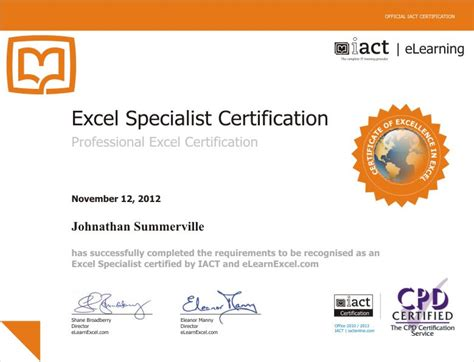 Ms Office Certification by Microsoft Excel Certification Apprentice To Master
