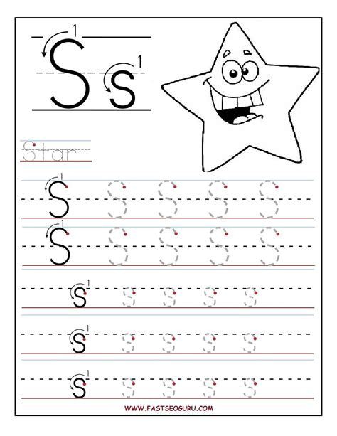 printable preschool activities printable letter s tracing worksheets for preschool for