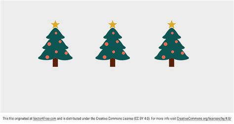 free cute christmas tree vector