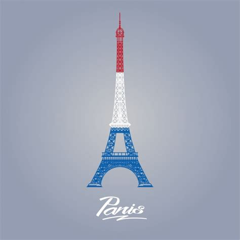 coloured eiffel tower background vector free