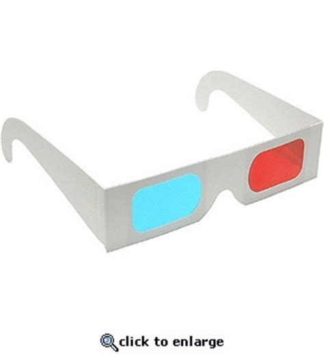 How To Make 3d Glasses With Paper - paper 3d glasses cyan lenses