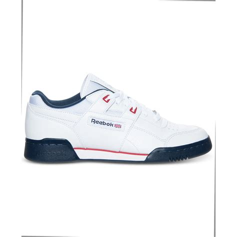 workout shoes for reebok workout plus casual sneakers in white for lyst