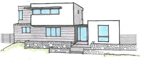 modern house drawing building structure stock vectors vector clip art