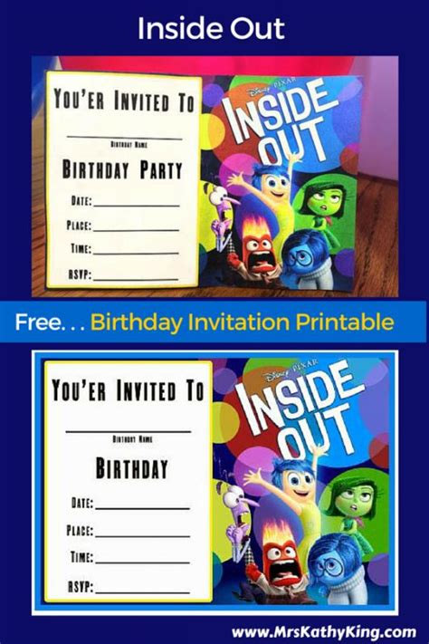 inside out printable party decorations free printable inside out birthday invitation templates