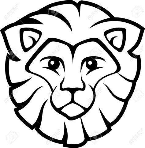 simple lion coloring page simple cartoon lion pictures www imgkid com the image