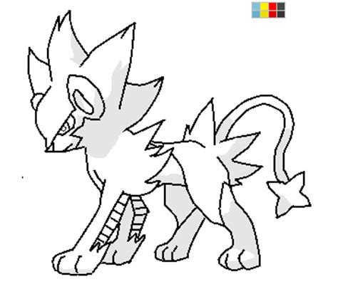 pokemon coloring pages luxray pokemon luxray coloring pages coloring pages