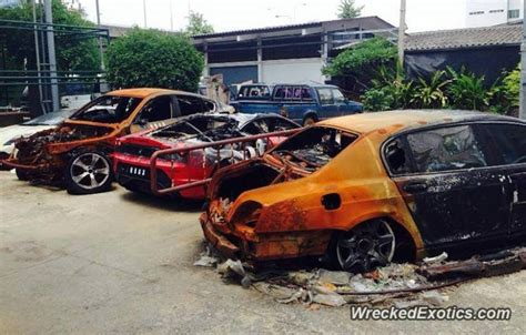 Lamborghini Price In Thailand Cars Destroyed By In Thailand