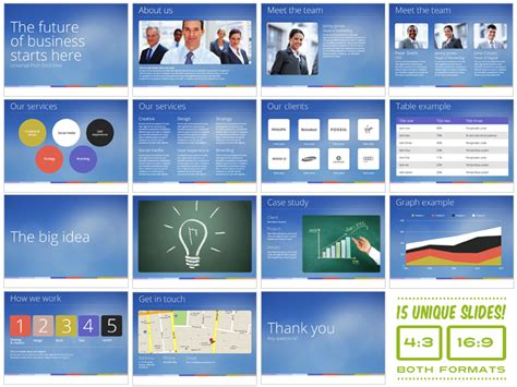 universal pitch deck nine powerpoint presentation