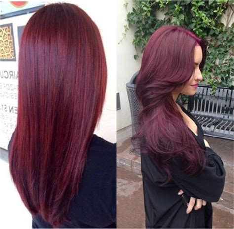 black hair to raspberry hair dark red violet hair color memes