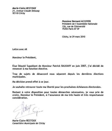 Exemple De Lettre De Démission President D Association Lettre De Demission Ecole Application Letter