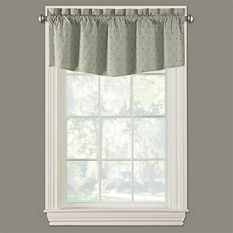 collins modern ascot window valance bed bath beyond