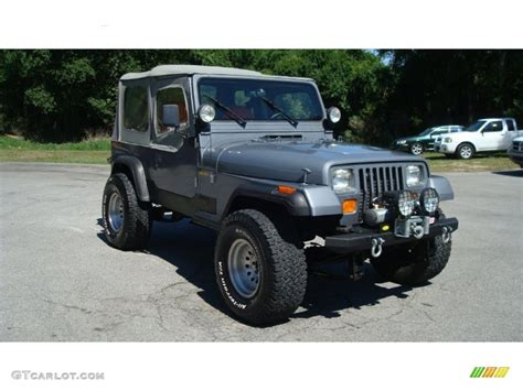 dark grey jeep 1991 dark silver metallic jeep wrangler sport 4x4