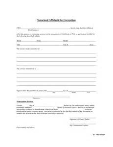 Certification Letter For Correction notarized affidavit for correction free download