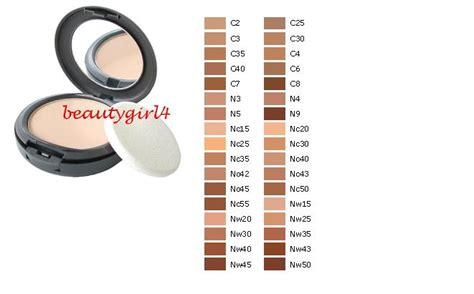 Galerry mac studio fix foundation color chart