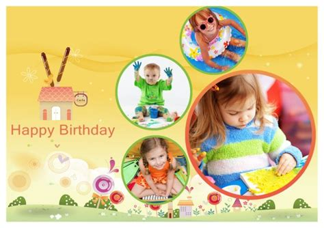 free birthday collage template birthday card templates addon pack free