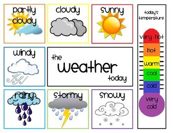 weather pattern in spanish daily weather chart by shae zimmerman teachers pay teachers