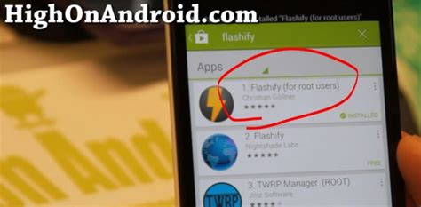 android root app how to flash img files on rooted android with flashify app root apps highonandroid