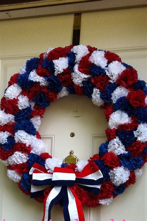 july patriotic ideasrecipes pinterest patriotic wreath wreaths  front door