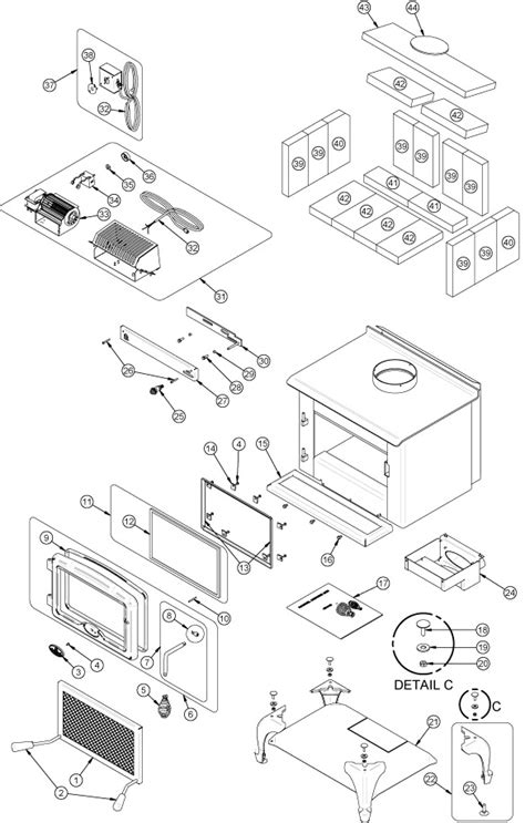 Wood Fireplace Parts by Fireplaceinsert Every Part For The Osburn 900