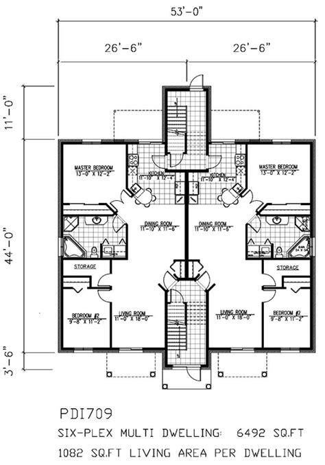 Multi Unit House Plans by Multi Unit House Plans Home Design Pdi709