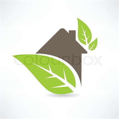 Eco House Concept Green Leaf Icon Stock Vector Colourbox Green Concept Logo Vectors