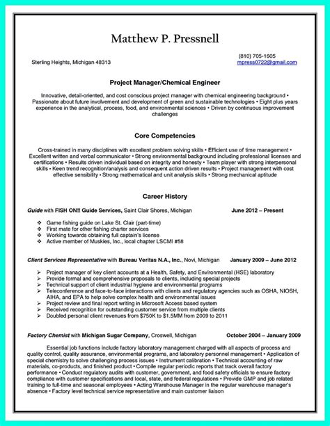 chemical engineering resume format successful objectives in chemical engineering resume