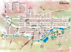 telluride town map telluride co mappery