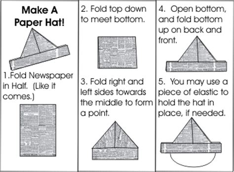 How To Make A Paper Hat - pirate hat a blue book