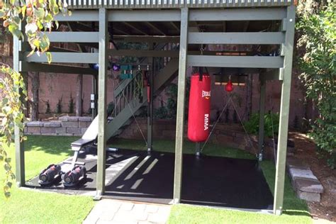 backyard gym ideas outdoor workouts home gyms and gym on pinterest