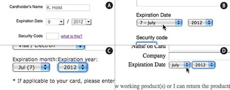 Credit Card Date Format Fundamental Guidelines Of E Commerce Checkout Design Smashing Magazine