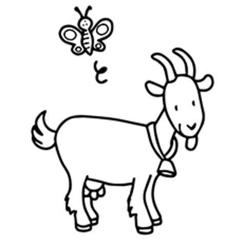 cute goat coloring pages goat coloring pages clipart best