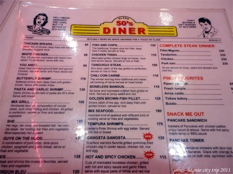 50s Diner Menu Template 50 diner menu 50s diner menu template 50 s diners