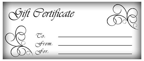 Make Gift Certificates with Printable Homemade Gift