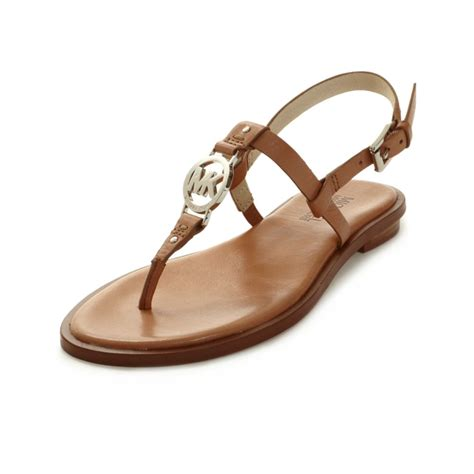 michael kors sandal michael kors flat sandals in brown lyst