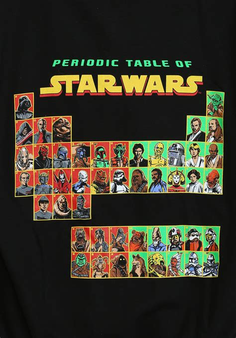 star wars table star wars periodic table zip hoodie