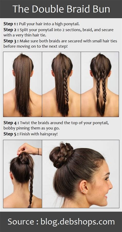 how to put thick braids in a bun pin by macey jae stucki on hair pinterest