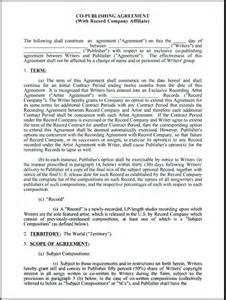 music publishing contract template free printable documents