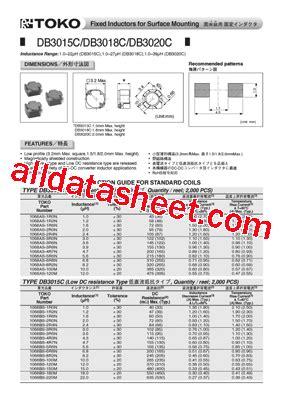 toko inductor datasheet 1069as 220m datasheet pdf toko inc