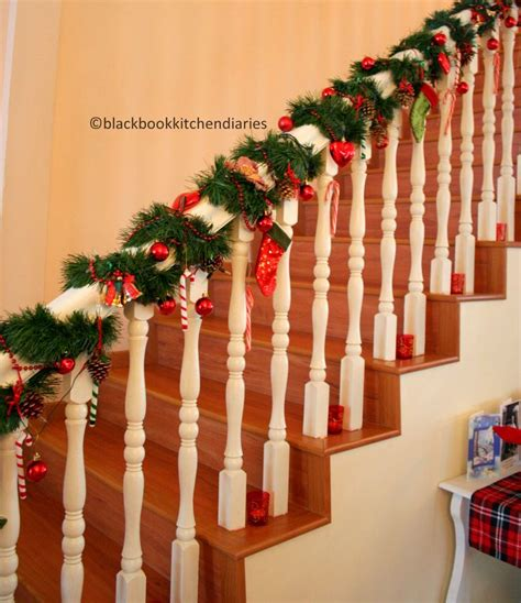 christmas banisters christmas banister christmas pinterest