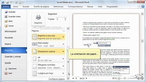 imprimir imagenes en varias hojas curso de microsoft word 2010 p09 imprimir youtube
