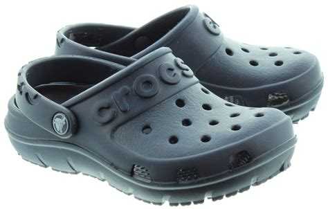 croc clogs for crocs hilo clogs in navy in navy
