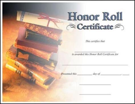 honor roll certificate template honor roll certificate certificate awards