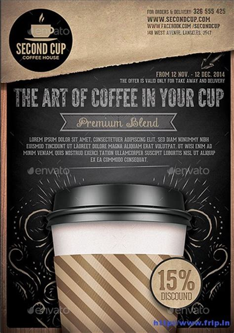 cafe flyer template 50 best coffee shop flyer print templates 2017 frip in