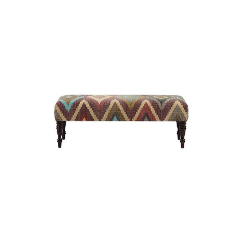 home decorators bench home decorators collection locus geometric fiesta bench 9494700480 the home depot