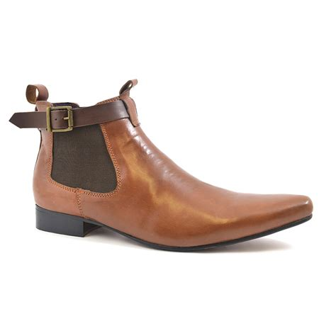find mens pointed toe chelsea boot gucinari