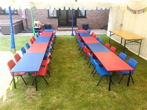 rent childrens tables and chairs table and chair hire just 4 hire