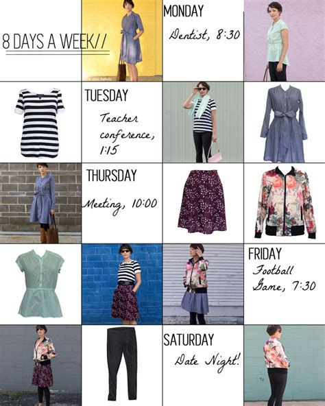 Sewing A Capsule Wardrobe by Sew A Capsule Wardrobe 8 Days A Week Patterns Melly Sews