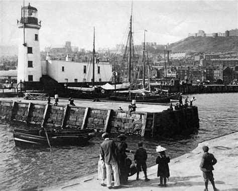 product : scarborough lighthouse and harbour, vintage