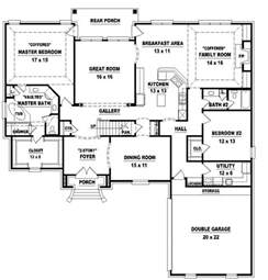 4 Bedroom Floor Plans by 654026 Two Story 4 Bedroom 3 Bath French Style House